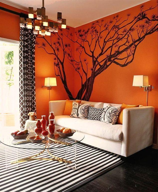 В каком интерьере уместны оранжевые тона и с чем их комбинировать