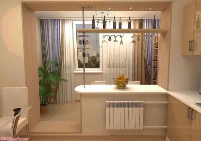 Как правильно совместить лоджию с жилой комнатой