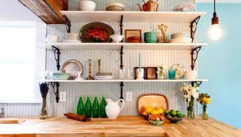 Открытые полки на кухне: как сделать красиво и удобно