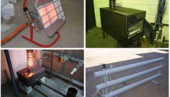 Отопление гаража зимой — какой способ лучше?