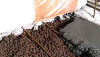 Можно ли залить пескобетон на керамзит без армированной сетки