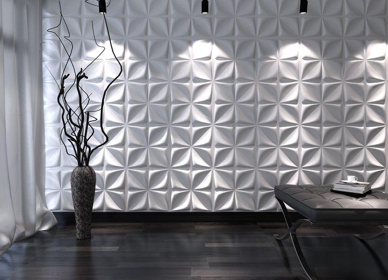 Осталась потолочная плитка? Сделаем узоры на стену!