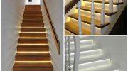 Светодиодная подсветка ступеней лестницы — красивое и практичное решение