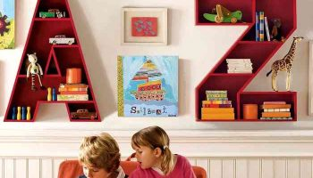 Оригинальные идеи полок для детской — делайте вместе с ребёнком