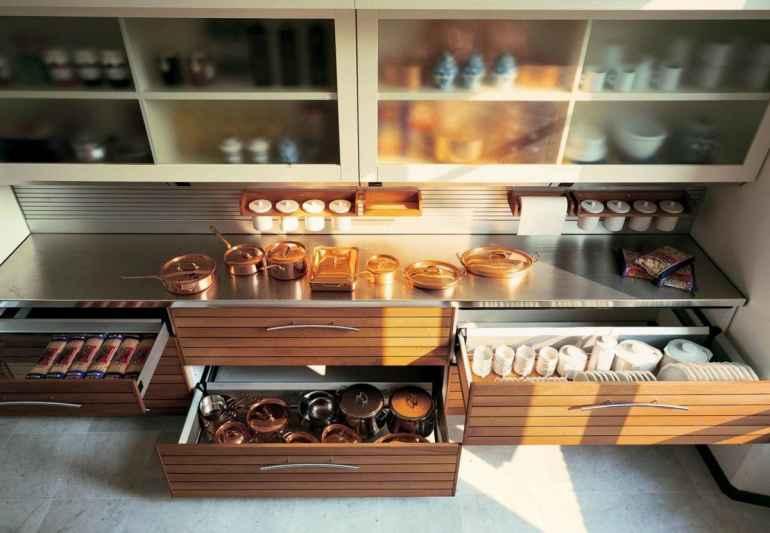 Порядок в кухонных ящиках выбираем правильное наполнение