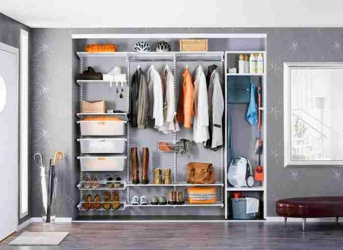 Правильное хранение вещей в гардеробной