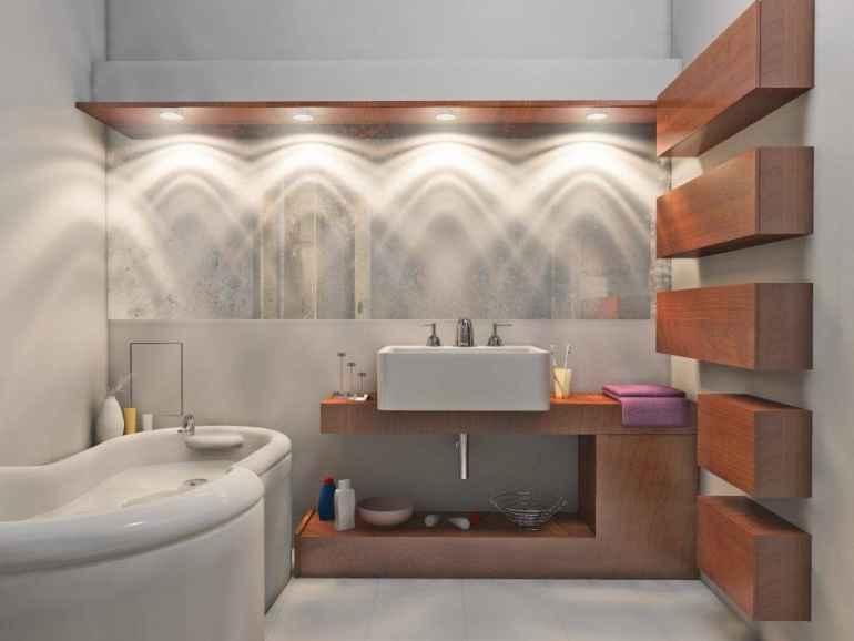 Как с помощью света обыграть дизайн ванной комнаты