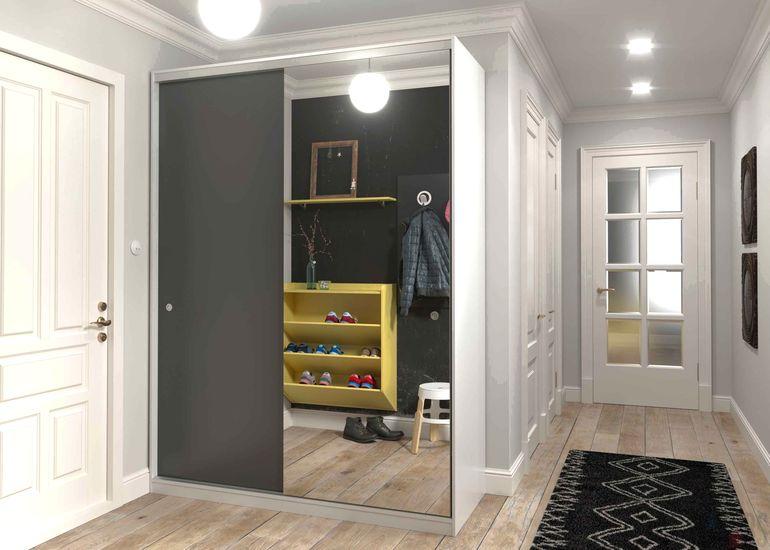 Модульный шкаф во всю стену: практичное решение для маленьких квартир и хрущёвок