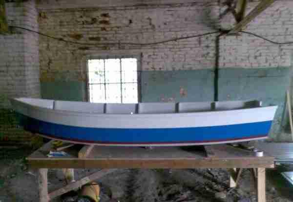 Пример покраски лодки