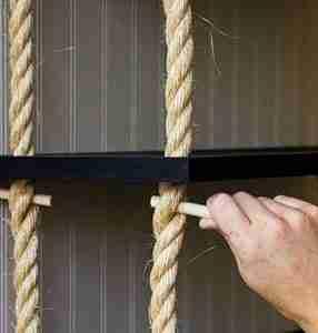 Пример полочек на веревках
