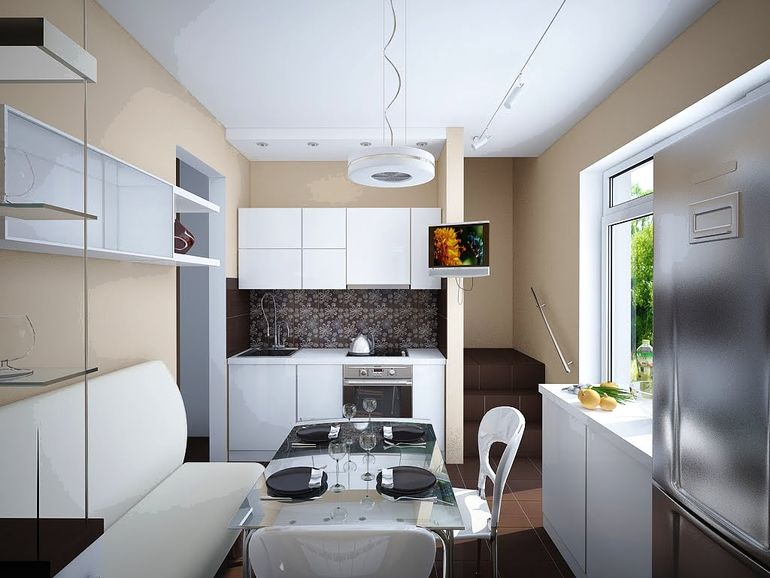 Примеры ремонта в хрущёвке когда кухня объеденина с гостиной
