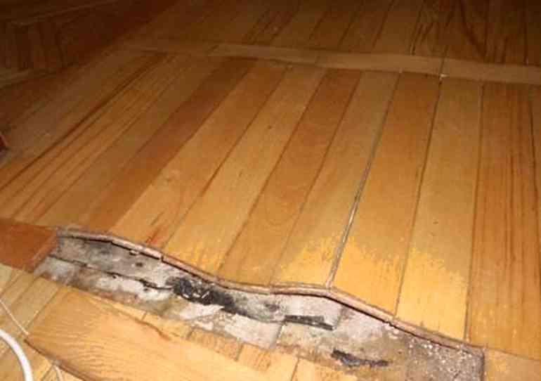 Что делать, если деревянный пол прогибается?
