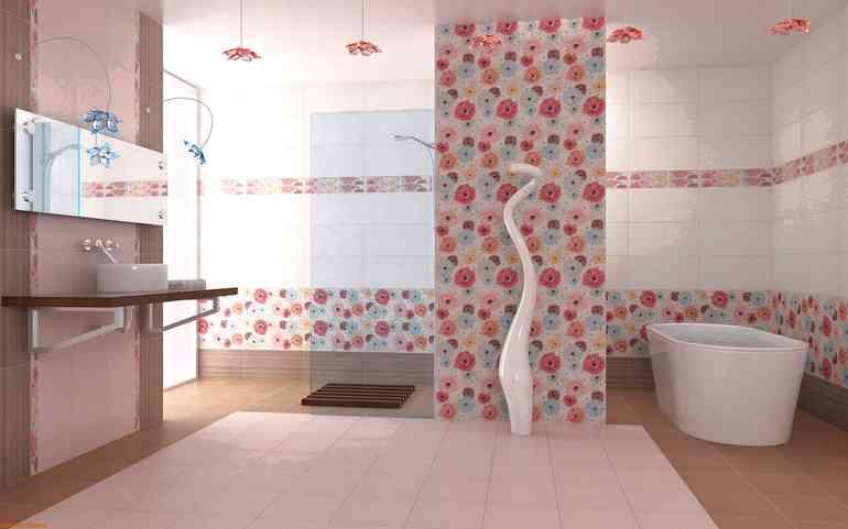Какие варианты укладки плитки ПВХ в ванной самые удачные