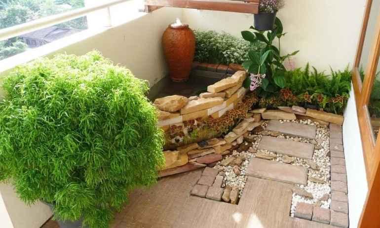 Как разбить миниатюрный зимний сад на балконе