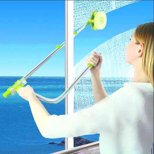 Швабра для лёгкого мытья окон с обратной стороны с круглой паралоновой насадкой