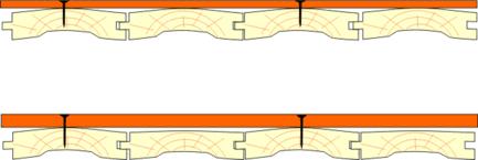 Схема укладки на дощатый пол