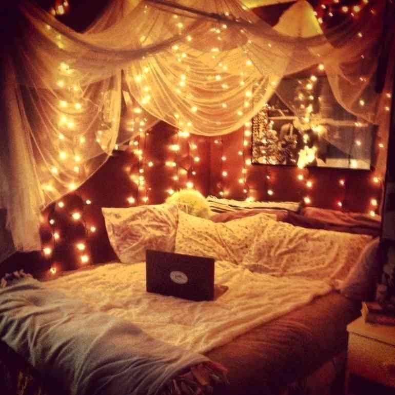 Сказочное оформление кровати и спальни