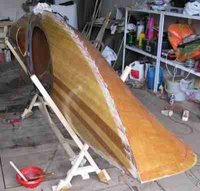 Склеивание палубы и корпуса