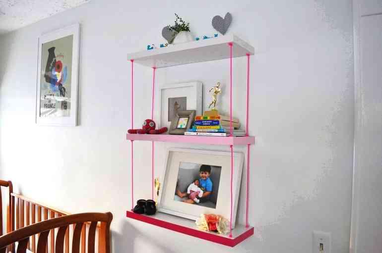 Оригинальные идеи полок для детской - делайте вместе с ребёнком