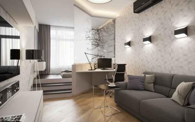 Подиум в квартире как прием для зонирования помещения