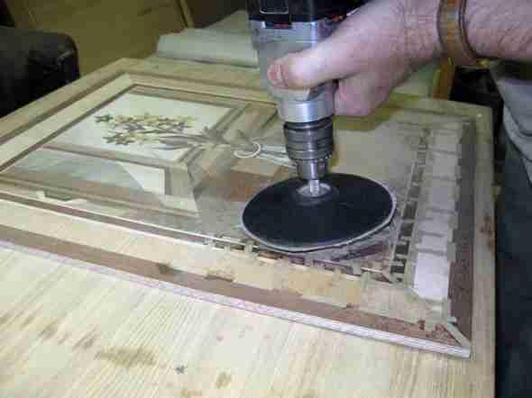 Создание картины из фанеры при помощи шлифовки