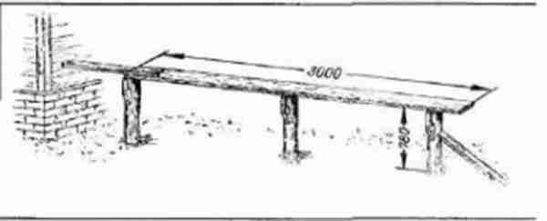 Стапель для постройки лодки