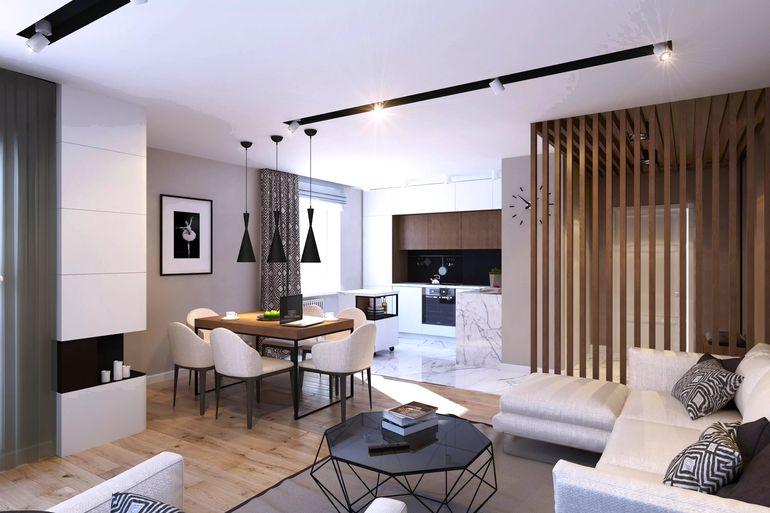 Как зонировать квартиру-студию без капитальных перегородок и стен