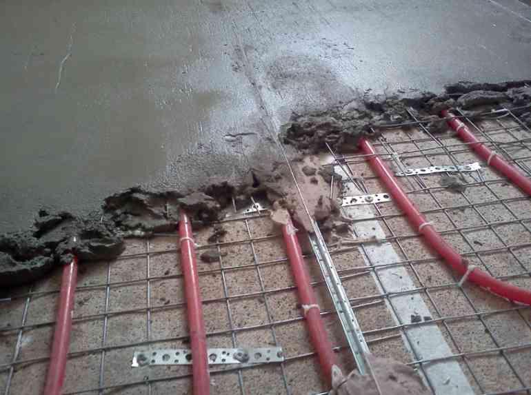 Какой именно должна быть стяжка под тёплый пол