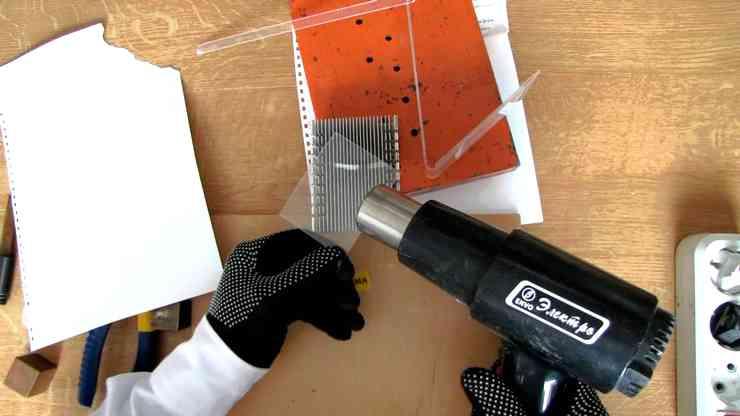 Как отполировать оргстекло с помощью обычного фена