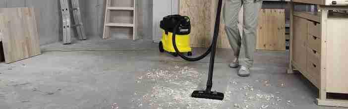 Уборка с помощью строительного пылесоса