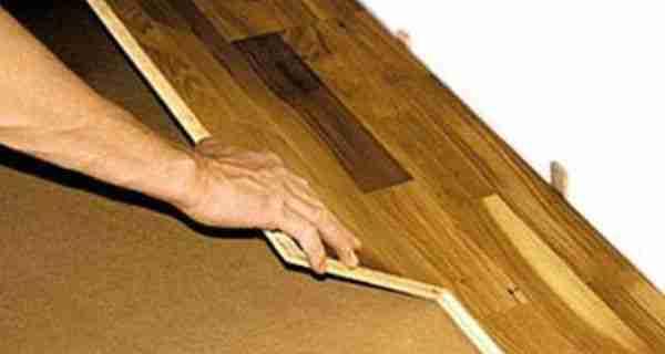 Укладка массивной доски на фанеру собственными руками