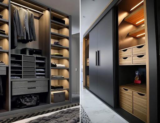 Современный дизайн прихожей со шкафом-купе (60+ фото)