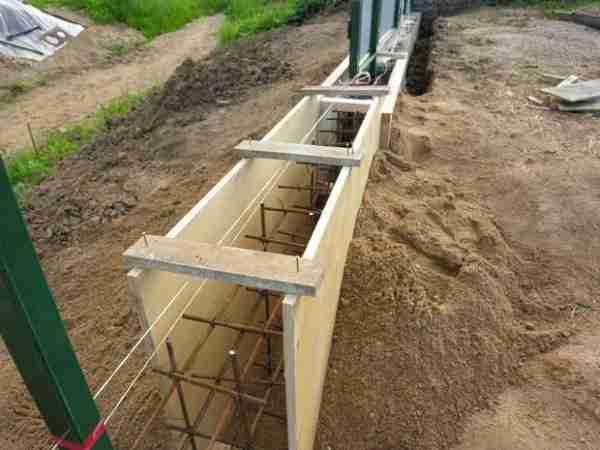 Вариант опалубки в частном строительстве.