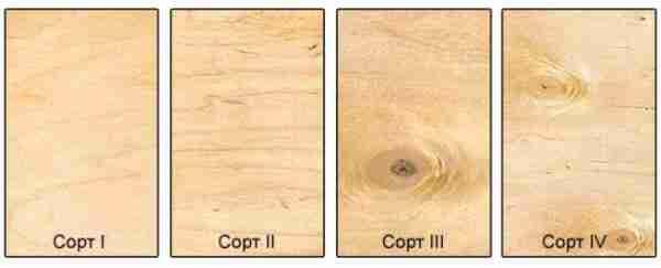 Визуально заметна разница межу каждым из сортов