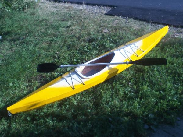 Внешний вид одноместной лодки, чертежи которой приведены ниже в статье