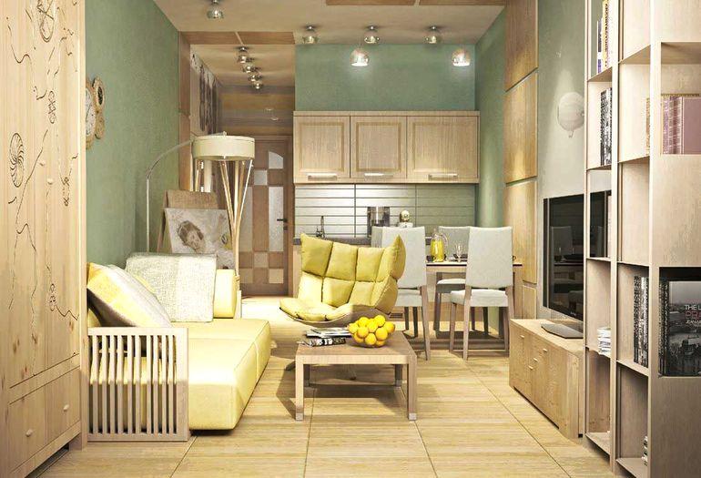 Квартира-студия - как уместить гостиную, спальню и кухню на 30 кв метрах