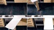 Как выдвижная столешница помогает сэкономить место на кухне